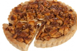 Apple Caramel Cookie Pie